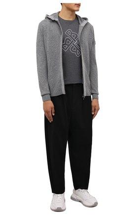 Мужская хлопковая футболка BOGNER серого цвета, арт. 58556604 | Фото 2 (Материал внешний: Хлопок; Рукава: Короткие; Длина (для топов): Стандартные; Принт: С принтом; Стили: Кэжуэл)