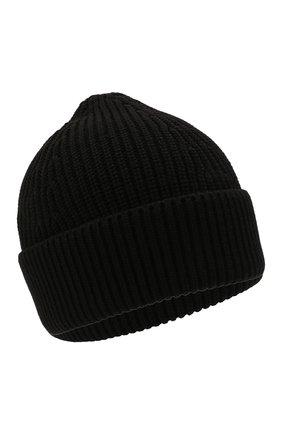 Мужская шапка из хлопка и шерсти MAISON MARGIELA черного цвета, арт. S50TC0051/S17791 | Фото 1 (Материал: Хлопок, Шерсть, Текстиль; Кросс-КТ: Трикотаж)
