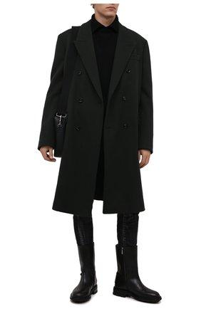 Мужские джинсы DSQUARED2 черного цвета, арт. S74LB0984/S30357   Фото 2 (Длина (брюки, джинсы): Стандартные; Материал внешний: Хлопок; Кросс-КТ: Деним; Детали: Потертости; Силуэт М (брюки): Узкие; Стили: Гранж)