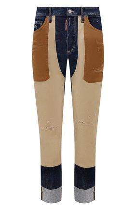 Мужские джинсы DSQUARED2 бежевого цвета, арт. S74LB0950/S30342 | Фото 1 (Материал внешний: Хлопок; Кросс-КТ: Деним; Силуэт М (брюки): Прямые; Стили: Гранж; Длина (брюки, джинсы): Стандартные)