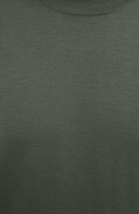 Мужской шерстяной джемпер STONE ISLAND хаки цвета, арт. 7515526C4 | Фото 5 (Мужское Кросс-КТ: Джемперы; Материал внешний: Шерсть; Рукава: Длинные; Принт: Без принта; Длина (для топов): Стандартные; Стили: Милитари; Вырез: Круглый)