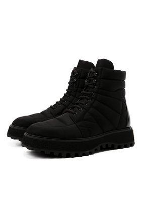 Мужские текстильные ботинки DOLCE & GABBANA черного цвета, арт. A60404/AQ302 | Фото 1 (Материал внешний: Текстиль; Подошва: Массивная; Материал внутренний: Натуральная кожа; Каблук высота: Высокий; Мужское Кросс-КТ: Ботинки-обувь, Хайкеры-обувь)