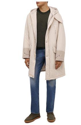 Мужские замшевые ботинки TOD'S хаки цвета, арт. XXM06G0ES50RE0 | Фото 2 (Подошва: Плоская; Материал внутренний: Натуральная кожа; Мужское Кросс-КТ: Ботинки-обувь, Дезерты-обувь; Материал внешний: Замша)