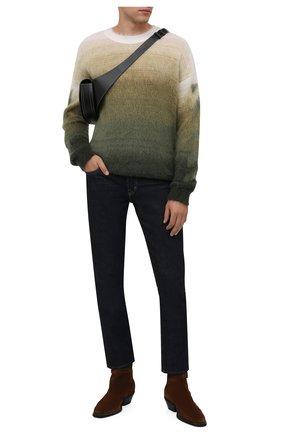 Мужские замшевые казаки TOD'S коричневого цвета, арт. XXM08H0ER90X0F | Фото 2 (Подошва: Плоская; Материал внутренний: Натуральная кожа; Материал внешний: Замша; Мужское Кросс-КТ: Сапоги-обувь, Казаки-обувь)