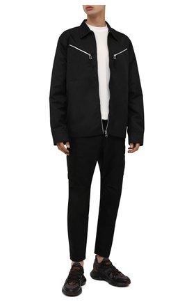 Мужские комбинированные кроссовки TOD'S коричневого цвета, арт. XXM54C0EN00Q88 | Фото 2 (Материал внешний: Текстиль; Материал внутренний: Текстиль; Стили: Гранж; Подошва: Массивная)