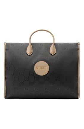 Мужская текстильная сумка-тоут off the grid GUCCI серого цвета, арт. 630353/H9HAN | Фото 1 (Материал: Текстиль)