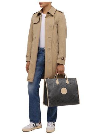 Мужская текстильная сумка-тоут off the grid GUCCI серого цвета, арт. 630353/H9HAN | Фото 2 (Материал: Текстиль)