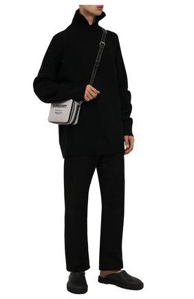 Мужские резиновые сабо GUCCI черного цвета, арт. 655517/JFB00 | Фото 2 (Материал внешний: Резина)