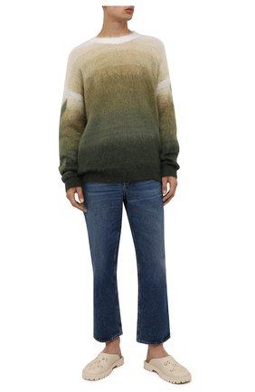 Мужские резиновые сабо GUCCI кремвого цвета, арт. 655517/JFB00   Фото 2 (Материал внешний: Резина)