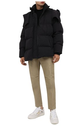 Мужские кожаные кеды VALENTINO белого цвета, арт. WY0S0C58/KIG   Фото 2 (Материал внутренний: Натуральная кожа; Подошва: Массивная)