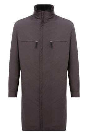 Мужская куртка с меховой подкладкой ANDREA CAMPAGNA серого цвета, арт. 00100H9BF9600 | Фото 1 (Рукава: Длинные; Длина (верхняя одежда): До колена; Материал внешний: Синтетический материал; Кросс-КТ: Куртка; Мужское Кросс-КТ: утепленные куртки; Стили: Кэжуэл)