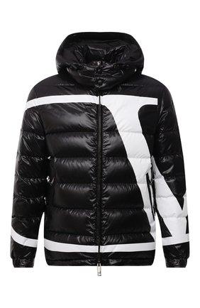 Мужская утепленная куртка VALENTINO черного цвета, арт. WV3CNA317KQ | Фото 1 (Материал подклада: Синтетический материал; Длина (верхняя одежда): Короткие; Материал внешний: Синтетический материал; Рукава: Длинные; Кросс-КТ: Куртка; Мужское Кросс-КТ: пуховик-короткий; Стили: Кэжуэл)