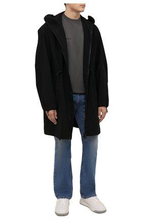Мужская хлопковая футболка COMME DES FUCKDOWN темно-серого цвета, арт. CDFU1244   Фото 2 (Материал внешний: Хлопок; Длина (для топов): Стандартные; Принт: С принтом; Рукава: Короткие; Стили: Гранж)