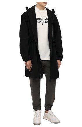 Мужская хлопковая футболка COMME DES FUCKDOWN белого цвета, арт. CDFU1232   Фото 2 (Материал внешний: Хлопок; Длина (для топов): Стандартные; Принт: С принтом; Рукава: Короткие; Стили: Гранж)