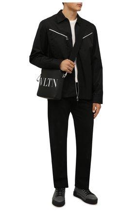 Мужские кожаные кеды VIC MATIE серого цвета, арт. 1W3000U.V02CAWB058 | Фото 2 (Материал внутренний: Натуральная кожа; Подошва: Массивная)
