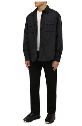 Мужские текстильные кроссовки VIC MATIE черного цвета, арт. 1W3022U.V04W050101 | Фото 2 (Подошва: Массивная; Материал внутренний: Текстиль, Натуральная кожа; Материал внешний: Текстиль; Стили: Гранж)