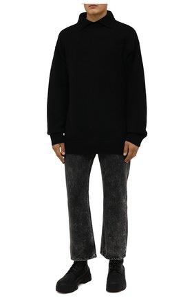 Мужские кожаные ботинки VIC MATIE черного цвета, арт. 1W3051U.V06CANB001 | Фото 2 (Подошва: Массивная; Материал утеплителя: Натуральный мех; Каблук высота: Высокий; Мужское Кросс-КТ: Ботинки-обувь, зимние ботинки, Байкеры-обувь)