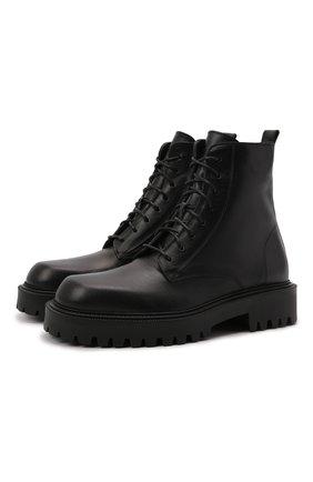 Мужские кожаные ботинки VIC MATIE черного цвета, арт. 1W3060U.W90W890101   Фото 1 (Подошва: Массивная; Материал внутренний: Натуральная кожа; Мужское Кросс-КТ: Ботинки-обувь, Байкеры-обувь)