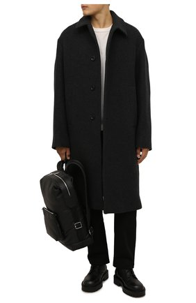 Мужские кожаные ботинки VIC MATIE черного цвета, арт. 1W3060U.W90W890101   Фото 2 (Подошва: Массивная; Материал внутренний: Натуральная кожа; Мужское Кросс-КТ: Ботинки-обувь, Байкеры-обувь)