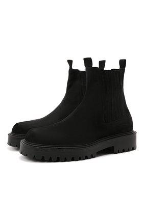 Мужские замшевые челси VIC MATIE черного цвета, арт. 1W3066U.W90W150101 | Фото 1 (Материал внутренний: Натуральная кожа; Материал внешний: Замша; Мужское Кросс-КТ: Сапоги-обувь, Челси-обувь; Подошва: Массивная)