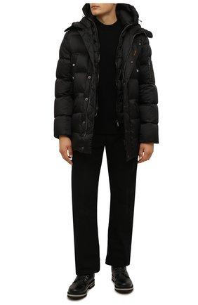 Мужские кожаные ботинки BOGNER черного цвета, арт. 12141823/C0URCHEVEL M 5 B | Фото 2 (Материал утеплителя: Натуральный мех; Подошва: Плоская; Мужское Кросс-КТ: Ботинки-обувь, Хайкеры-обувь, зимние ботинки)
