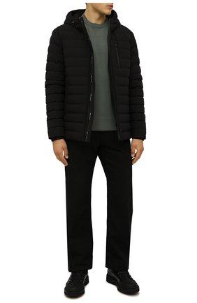 Мужские кожаные ботинки W.GIBBS черного цвета, арт. 0260005/2345 | Фото 2 (Материал утеплителя: Натуральный мех; Подошва: Массивная; Мужское Кросс-КТ: Ботинки-обувь, зимние ботинки)