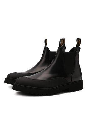 Мужские кожаные челси DOUCAL'S черного цвета, арт. DU2911CENTPF555NN00 | Фото 1 (Материал внутренний: Натуральная кожа; Мужское Кросс-КТ: Сапоги-обувь, Челси-обувь; Подошва: Плоская)