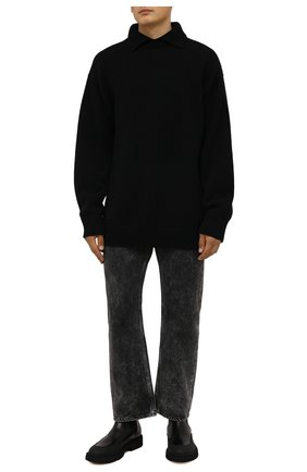 Мужские кожаные челси DOUCAL'S черного цвета, арт. DU2911CENTPF555NN00 | Фото 2 (Материал внутренний: Натуральная кожа; Мужское Кросс-КТ: Сапоги-обувь, Челси-обувь; Подошва: Плоская)
