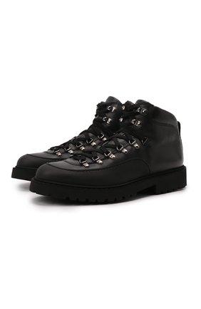 Мужские кожаные ботинки DOUCAL'S черного цвета, арт. DU2912CENTPM557NN00 | Фото 1 (Подошва: Плоская; Материал утеплителя: Натуральный мех; Мужское Кросс-КТ: Ботинки-обувь, Хайкеры-обувь, зимние ботинки)