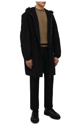 Мужские кожаные ботинки DOUCAL'S черного цвета, арт. DU2912CENTPM557NN00 | Фото 2 (Подошва: Плоская; Материал утеплителя: Натуральный мех; Мужское Кросс-КТ: Ботинки-обувь, Хайкеры-обувь, зимние ботинки)