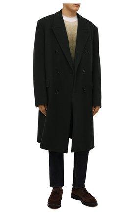 Мужские замшевые дерби W.GIBBS коричневого цвета, арт. 0212003/2508 | Фото 2 (Материал внутренний: Натуральная кожа; Стили: Классический; Материал внешний: Замша)