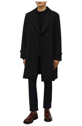 Мужские кожаные дерби W.GIBBS коричневого цвета, арт. 0537005/2536   Фото 2 (Материал внутренний: Натуральная кожа; Стили: Классический; Мужское Кросс-КТ: Броги-обувь)