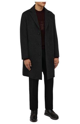 Мужские кожаные ботинки W.GIBBS темно-серого цвета, арт. 2639001/2490 | Фото 2 (Материал внешний: Текстиль; Материал утеплителя: Натуральный мех; Подошва: Плоская; Мужское Кросс-КТ: Ботинки-обувь, зимние ботинки)