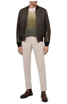 Мужская дубленка DIESEL коричневого цвета, арт. A03074/0IDAZ | Фото 2 (Материал внешний: Натуральный мех; Длина (верхняя одежда): Короткие; Рукава: Длинные; Стили: Кэжуэл)