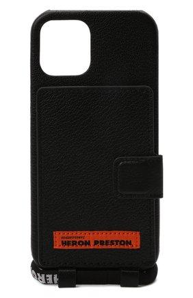 Кожаный чехол для iphone 12 pro max HERON PRESTON черного цвета, арт. HMPA015F21LEA0011022 | Фото 1