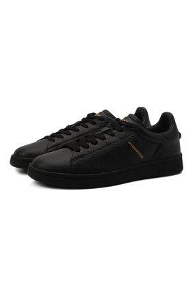 Мужские кожаные кеды boxer DSQUARED2 черного цвета, арт. SNM0176 25102624 | Фото 1 (Подошва: Массивная; Материал внутренний: Натуральная кожа)