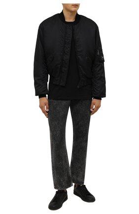Мужские кожаные кеды boxer DSQUARED2 черного цвета, арт. SNM0176 25102624 | Фото 2 (Подошва: Массивная; Материал внутренний: Натуральная кожа)