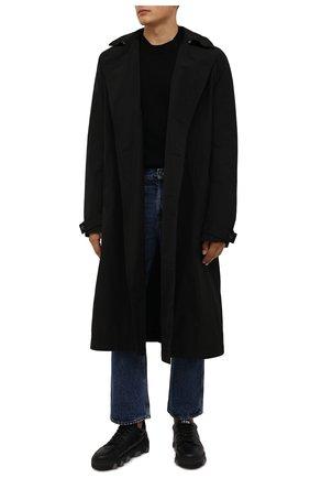 Мужские кожаные кеды basket DSQUARED2 черного цвета, арт. SNM0185 01500001 | Фото 2 (Подошва: Массивная; Материал внутренний: Натуральная кожа)
