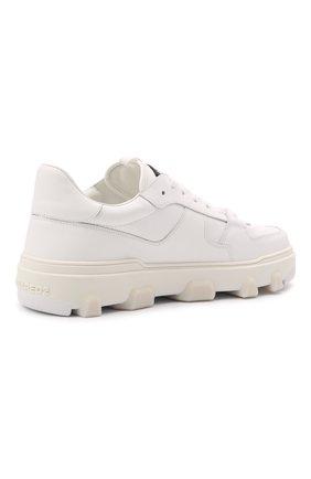 Мужские кожаные кеды basket DSQUARED2 белого цвета, арт. SNM0185 01500001 | Фото 4 (Материал внутренний: Натуральная кожа; Подошва: Массивная)