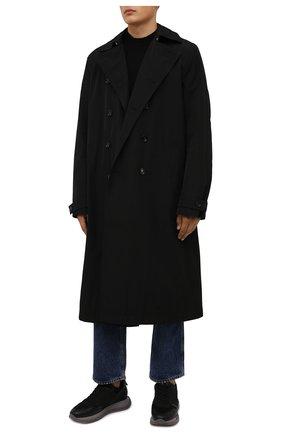 Мужские комбинированные кроссовки DSQUARED2 черного цвета, арт. SNM0213 01503280 | Фото 2 (Подошва: Массивная; Материал внутренний: Текстиль, Натуральная кожа; Материал внешний: Текстиль; Стили: Гранж)