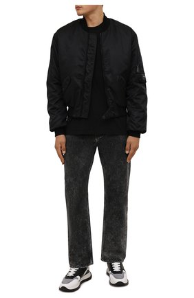 Мужские комбинированные кроссовки DSQUARED2 белого цвета, арт. SNM0213 01503280 | Фото 2 (Материал внутренний: Натуральная кожа, Текстиль; Материал внешний: Текстиль; Стили: Гранж; Подошва: Массивная)