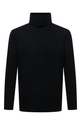 Мужской водолазка KAZUYUKI KUMAGAI черного цвета, арт. AJ12-251 | Фото 1 (Материал внешний: Синтетический материал, Хлопок; Длина (для топов): Стандартные; Рукава: Длинные; Мужское Кросс-КТ: Водолазка-одежда; Принт: Без принта; Стили: Минимализм)