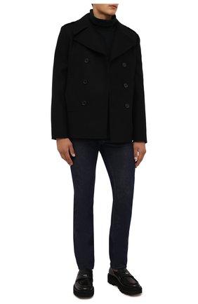 Мужской водолазка KAZUYUKI KUMAGAI черного цвета, арт. AJ12-251 | Фото 2 (Материал внешний: Синтетический материал, Хлопок; Длина (для топов): Стандартные; Рукава: Длинные; Мужское Кросс-КТ: Водолазка-одежда; Принт: Без принта; Стили: Минимализм)