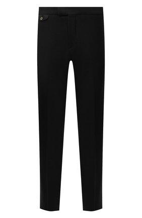 Мужские шерстяные брюки ZILLI черного цвета, арт. M0W-40-38P-F6415/0001 | Фото 1 (Материал подклада: Купро; Материал внешний: Шерсть; Случай: Повседневный; Стили: Кэжуэл; Длина (брюки, джинсы): Стандартные)