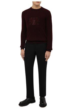 Мужские шерстяные брюки ZILLI черного цвета, арт. M0W-40-38P-F6415/0001 | Фото 2 (Материал подклада: Купро; Материал внешний: Шерсть; Случай: Повседневный; Стили: Кэжуэл; Длина (брюки, джинсы): Стандартные)