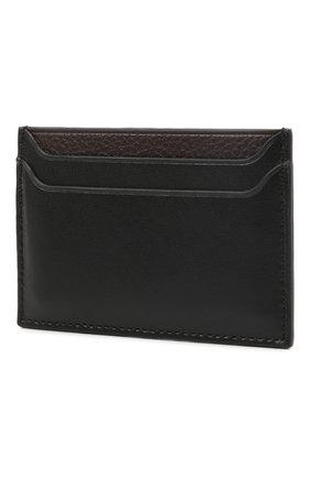 Мужской кожаный футляр для кредитных карт LANVIN черного цвета, арт. LM-SLWPC0-PALM-A21 | Фото 2