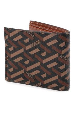 Мужской портмоне VERSACE коричневого цвета, арт. DPU2463/1A01974 | Фото 2 (Материал: Пластик)
