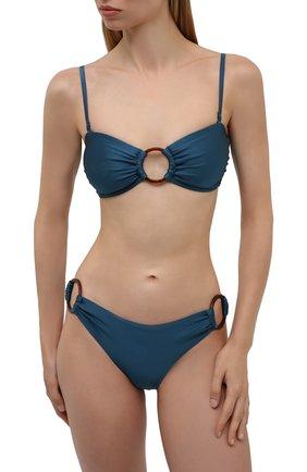 Женский раздельный купальник ZIMMERMANN темно-синего цвета, арт. 4986WCAS   Фото 2 (Материал внешний: Синтетический материал; Женское Кросс-КТ: Раздельные купальники)