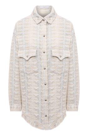 Женская куртка IRO кремвого цвета, арт. WP100MARSH   Фото 1 (Материал внешний: Хлопок; Рукава: Длинные; Длина (верхняя одежда): До середины бедра; Стили: Минимализм; Кросс-КТ: Куртка)