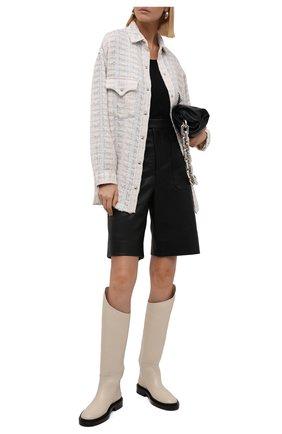 Женская куртка IRO кремвого цвета, арт. WP100MARSH   Фото 2 (Материал внешний: Хлопок; Рукава: Длинные; Длина (верхняя одежда): До середины бедра; Стили: Минимализм; Кросс-КТ: Куртка)